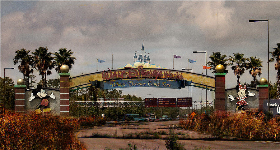 life after disney  main gate by eledoremassis02 d4fiabi These Images Of A Post Apocalyptic Disney World Are Actually Really Disturbing