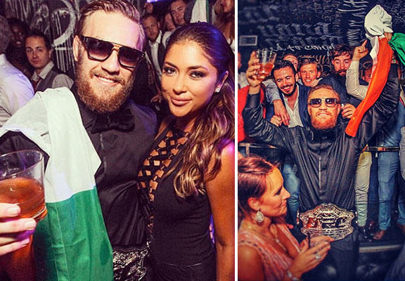 mcgregor party WEB Conor McGregor Paints The Town Green, White And Orange Following UFC Title Win