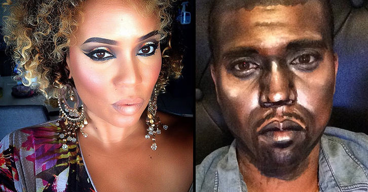 rapperfacebook This Female Makeup Artist Transforms Herself Into Famous Rappers And Celebrities