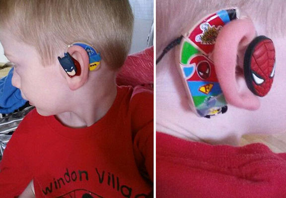 Mother Designs Amazing Hearing Aids For Kids Using Superheroes superhero web