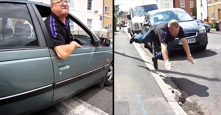 Confrontation With Cyclist Ended Really Badly For This Angry Driver AhHed7MJVroad rage lol FB.jpg