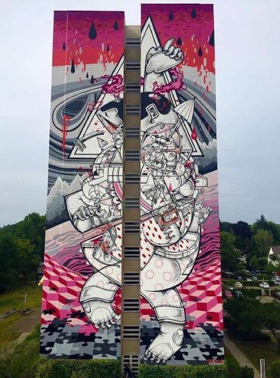 UNILAD 177 Street Artists Transformed These Boring Buildings Into Works Of Art