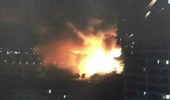 UNILAD 28 Huge Explosion At Arms Depot Sends Fireballs Into The Sky In Tokyo