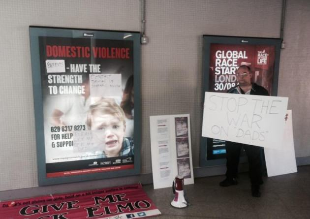 UNILAD New Fathers 4 Jsutice2 Activist Dads Removed From Station By Police After Defacing 'Sexist' Posters