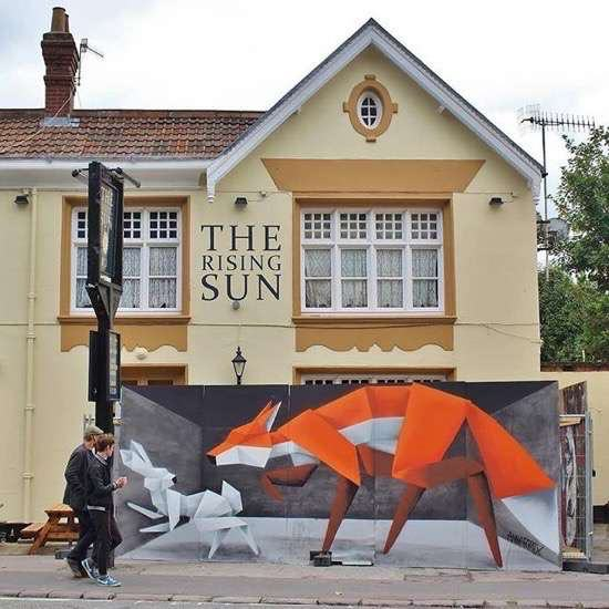 UNILAD Posted On Shock Mansion14223 Street Artists Transformed These Boring Buildings Into Works Of Art