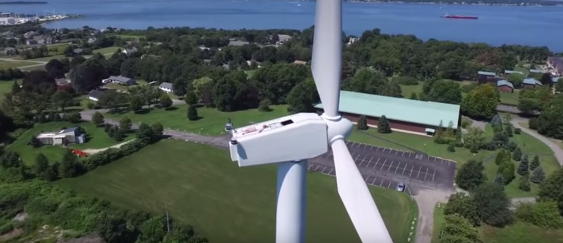 UNILAD Screen Shot 2015 08 28 at 11.06.413 Drone Rudely Interrupts Man Sunbathing On A 200ft WIND TURBINE