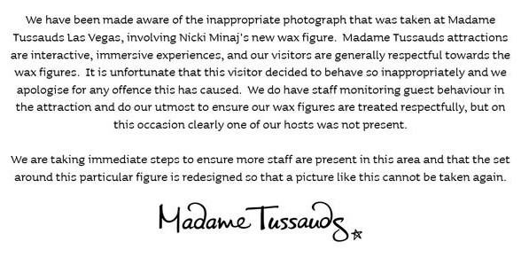 UNILAD Toussads Twitter8 Madame Tussauds Puts Nicki Minaj Under Guard Because Of Inappropriate Photos