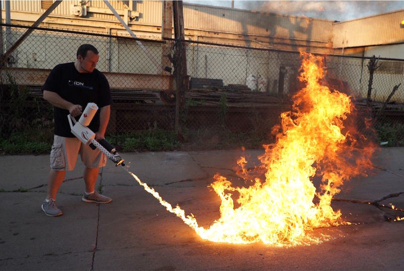 UNILAD XM42 10 810x544 Ion Productions Team2 Americans Rush To Buy Low Cost Flamethrowers Before They Get Banned