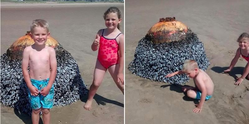 UNILAD bomb7 Parents Let Kids Take Photo In Front Of Active Bomb Without Realising
