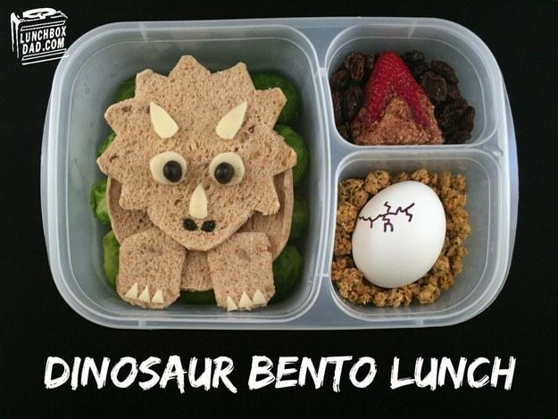 UNILAD dino5 This Awesome Dad Makes The Best School Dinners Ever