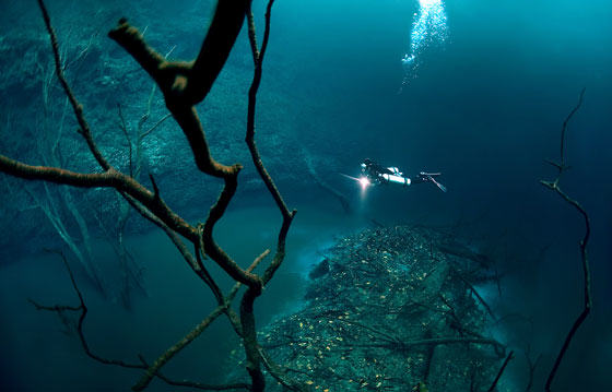UNILAD diver35 Diver Discovers Incredible Underwater River In Mexico