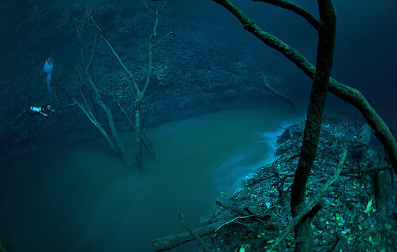 UNILAD iver52 Diver Discovers Incredible Underwater River In Mexico