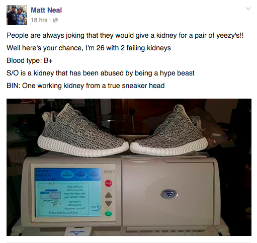 UNILAD kidney4 Man Tries To Trade Kanye West Yeezys For A Kidney