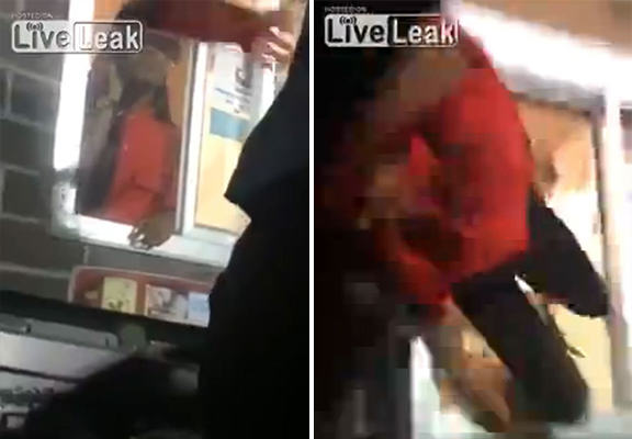UNILAD mcdonalds attack WEB4 McDonalds Employee Pulled Into Customers Car During Drive Through Row