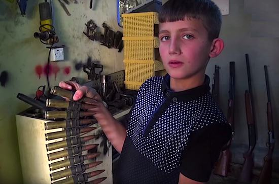 UNILAD omer 28 This Primary School Lad Repairs Sniper Rifles For Soldiers Fighting ISIS