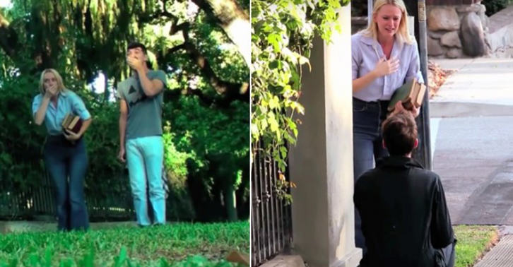 UNILAD wed 32 This Guy Chose The Scariest Way To Propose To His Girlfriend