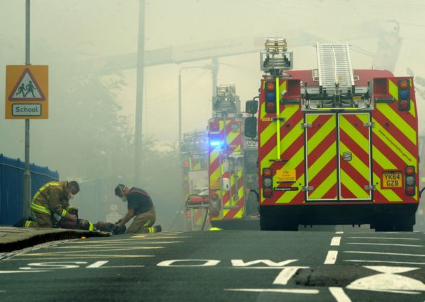 Massive Fire Rips Through School As Kids Collect GCSE Results UNILAD yep 32