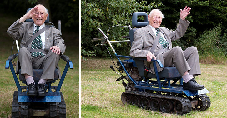 r5OgQPhMs Second World War Hero Gets Incredible Wheelchair Built Like A Tank