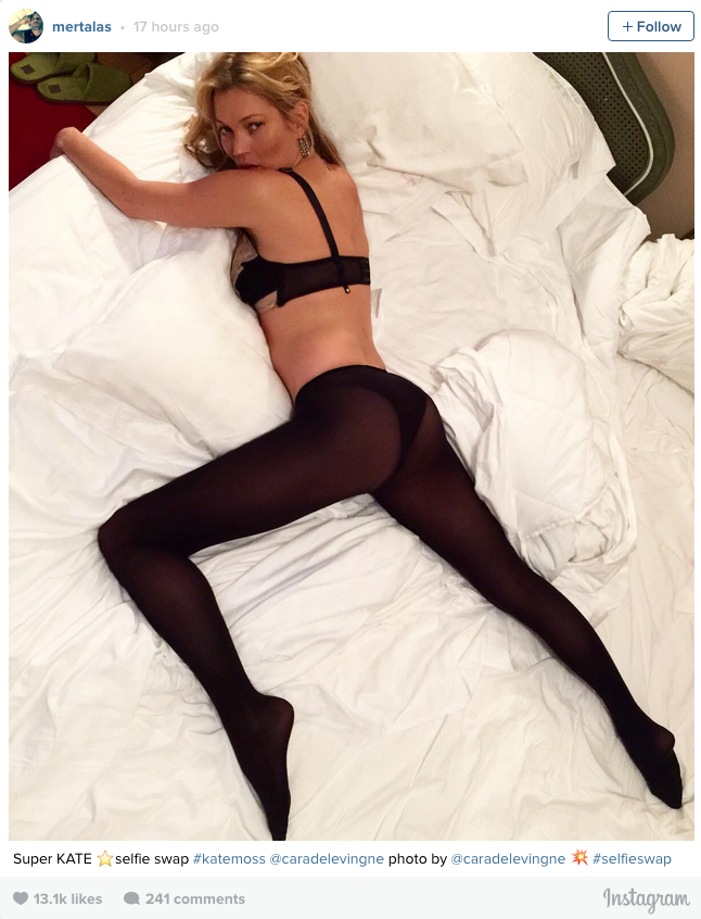 Screen Shot 2015 09 24 at 10.12.18 Cara Delevingne And Kate Moss Cause NSFW Stir On Instagram