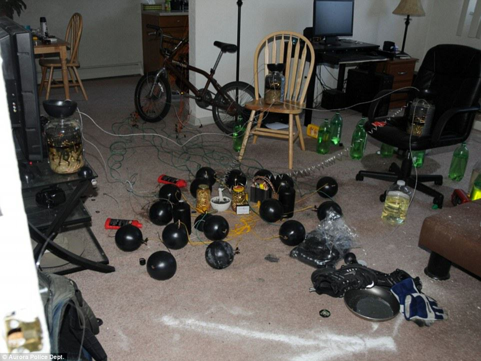 UNILAD 2C2574ED00000578 3229163 The photos show the floor of Holmes home littered with home made a 18 14418966088968