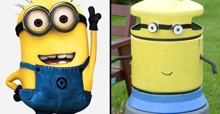 One Town Wakes Up And Sees All Their Bins Painted To Look Like Minions UNILAD binm 28