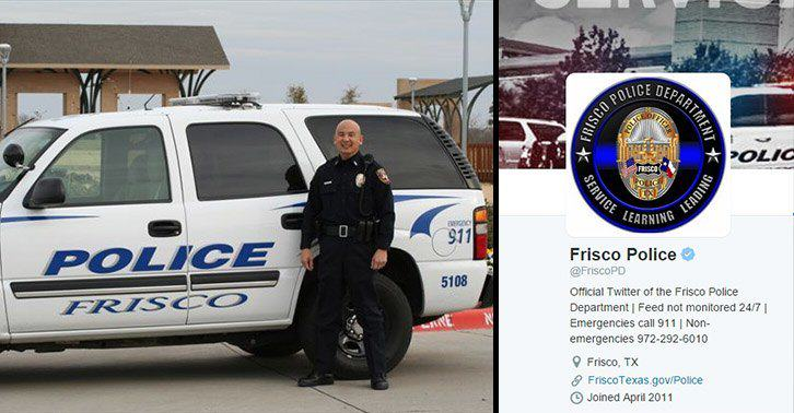UNILAD frisco police 36 Man Tweets That Cops Are Surrounding Him, Police Tweet Back