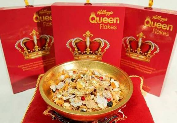 Kellogg's Create Cereal With Edible Jewels To Celebrate The Queens Record Reign