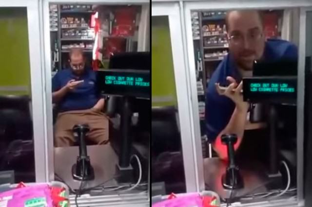 Walmart Employee Caught Enjoying Himself A Little Too Much In Work