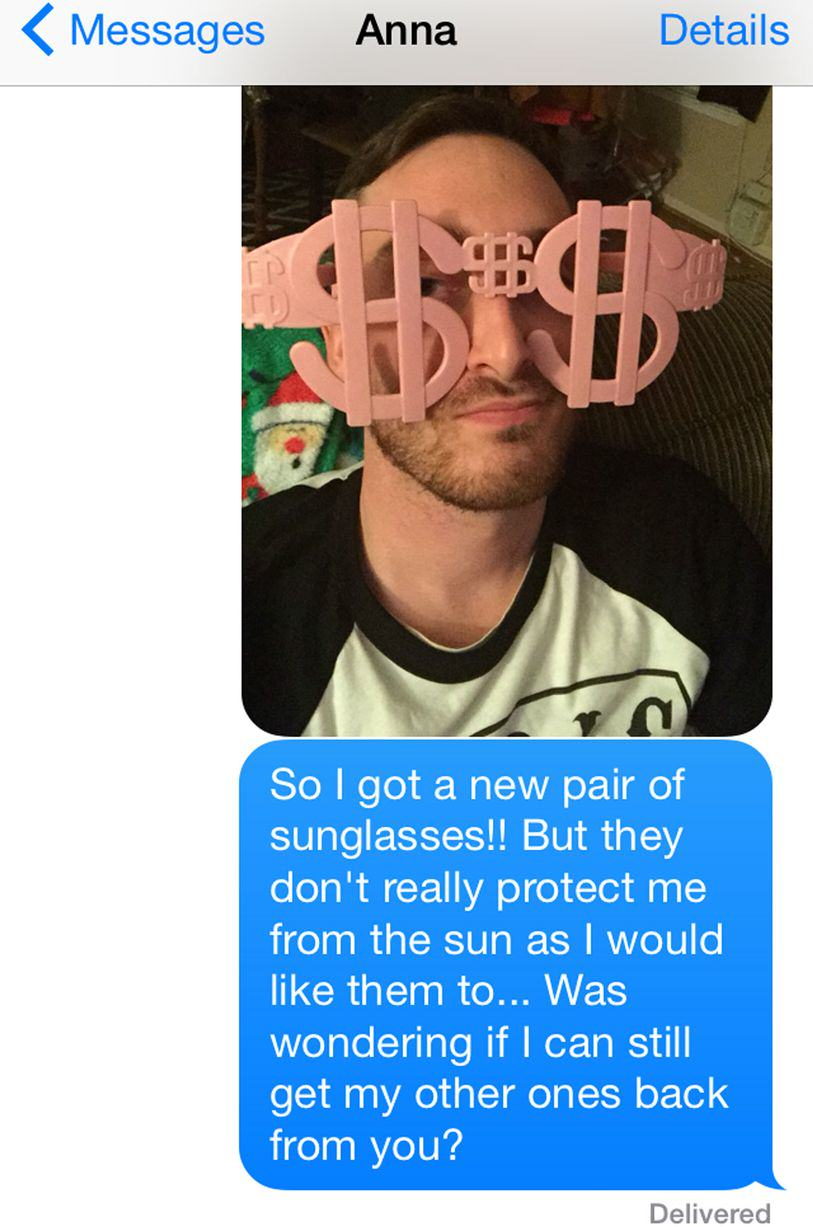 UNILAD sun96 This Guy Bombarded A Girl With Texts For A Year Asking For His Sunglasses Back