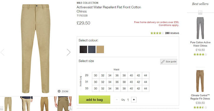 M&S Shorten Fly Zips On Chinos, Male Customers Report Difficulties Going To The Toilet chinos compaint 4