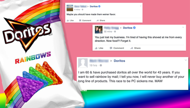 mg doritoslgbt comp This Guy Has Been Hilariously Trolling Bigots Angry About Rainbow Doritos