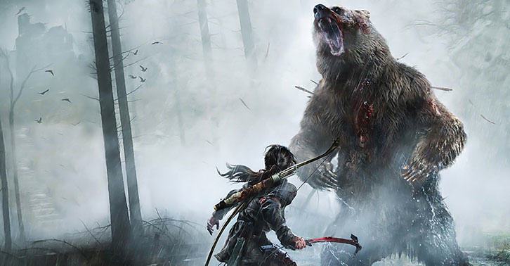 tombfacebook New Rise Of The Tomb Raider Trailer Shows Off Intense Gameplay