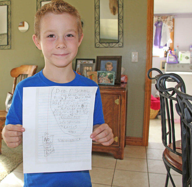 %name Boy Writes Letter Offering Friendship To Bully Who Spat On Him