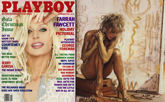 Here Are The 10 Most Iconic Playboy Centrefolds UNILAD Fawcett spread3