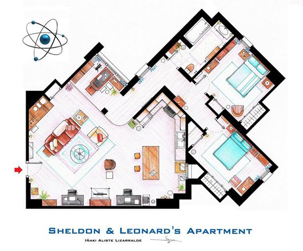 Someone Has Drawn The Floorplans Of Popular TV Show Apartments UNILAD Screen Shot 2015 10 04 at 20.17.358