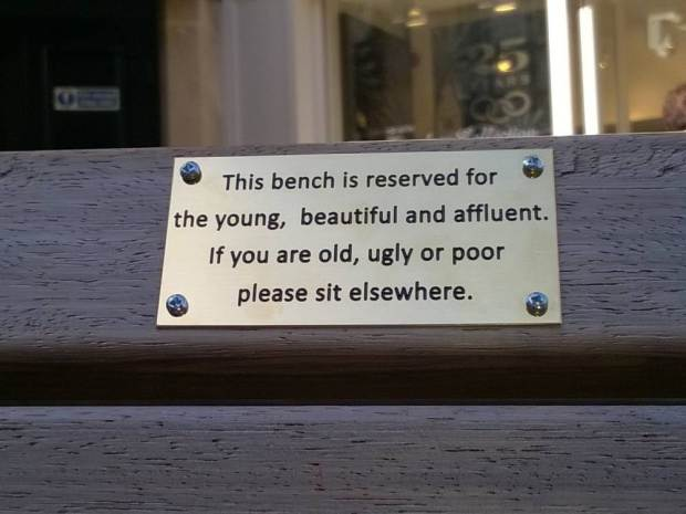 UNILAD ad 18475330467845 Council Remove Funny Spoof Plaques From Benches As They Might Offend People