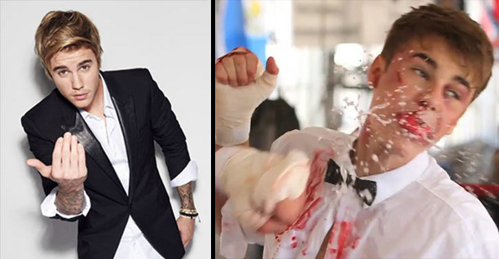 UNILAD bieber punch 127268982 Justin Bieber Vows To Punch Himself In The Face Repeatedly If You Dont Like His New Song