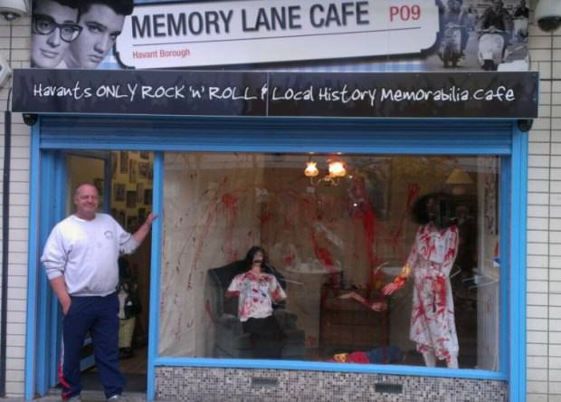 UNILAD cafe 280118 Police Order Cafe To Take Down Gruesome Halloween Display