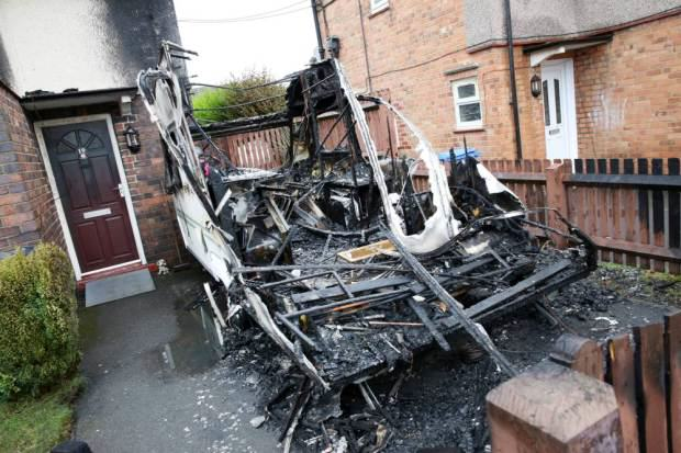 UNILAD dog arson179054 Heroic Dog Saves Family From Burning House After Arson Attack