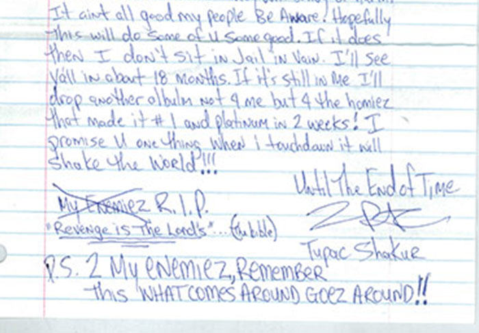 UNILAD pac26 Letter Penned By Tupac From Prison Before His Death Is Leaked