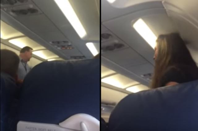 WATCH: Flight Attendant Bullies Lady And Gets Her Kicked Off Plane