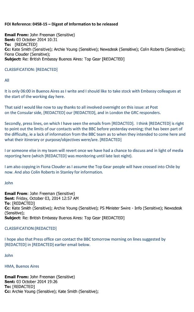 UNILAD top gear email 113805 Top Gear Emails Reveal Behind The Scenes Chaos Between BBC And Argentinian Officials