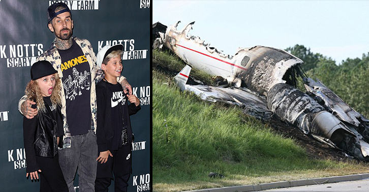 UNILAD travis crash 7876926137 Travis Barker Says His Daughter Predicted Plane Crash Which Nearly Killed Him