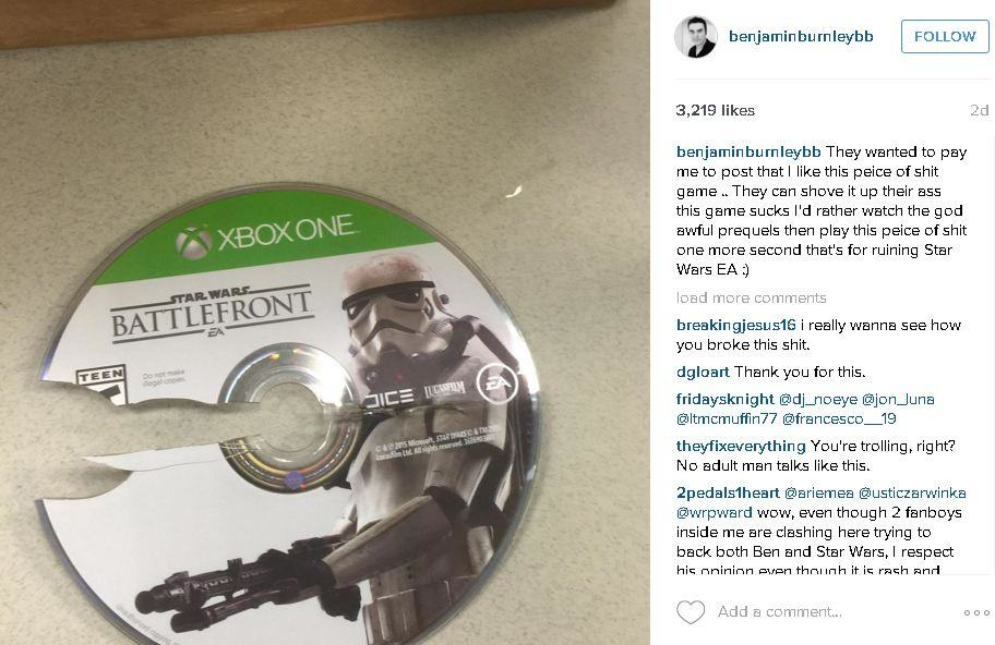 2969473 bb1 EA Under Fire For Allegedly Asking Artist To Praise Star Wars Battlefront