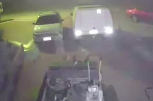 GHOST21 640x426 Viral Video Shows 'Ghost' Walking Across Guys Driveway