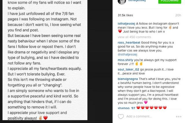 Jessie J Has Addressed Bullying In Three Big Instagram Posts Jessietweet1 640x426