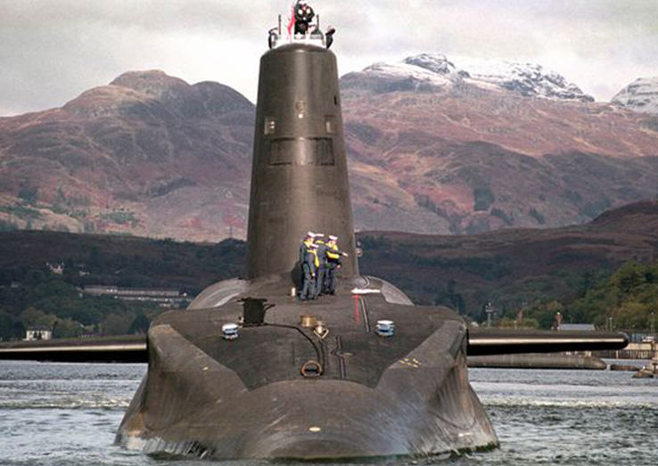 Trident sub Britains Trident Nuclear Weapons Can Be Hacked, According To Experts