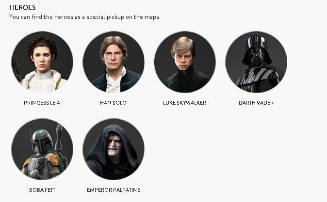 UNILAD 2963425 heroes93787 Check Out All Star Wars Battlefront Star Cards Ahead Of Launch