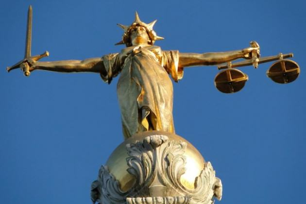 Woman Runs Over Cyclist, Smashes Into Salon, Gets Sent To Prison UNILAD Statue Of Justice Old Bailey 630x42033275
