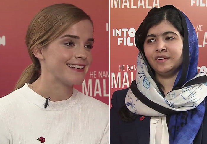 UNILAD emma328513 Watch As Emma Watson Meets Malala Yousafzai At The Into Film Festival